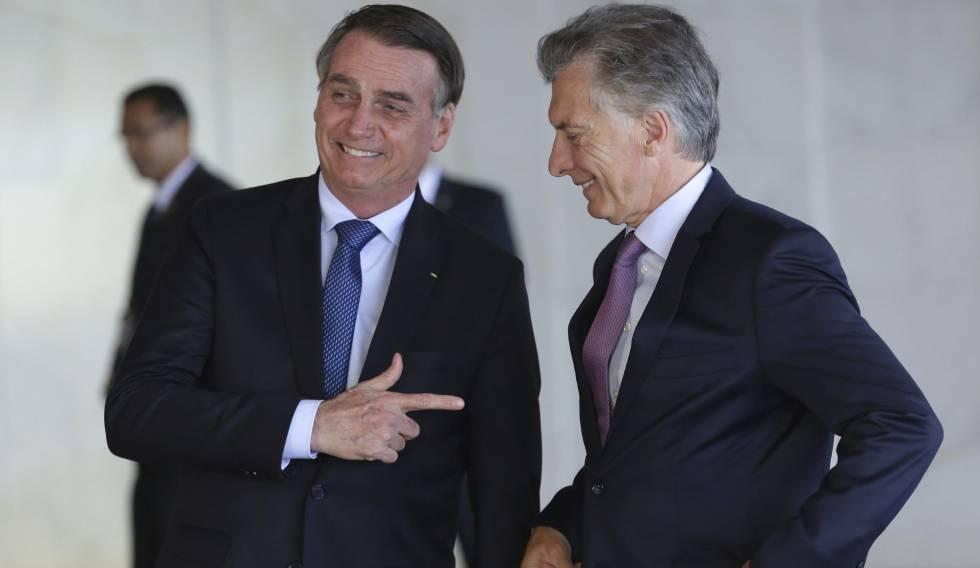 Bolsonaro e Macri, no Itamaraty.