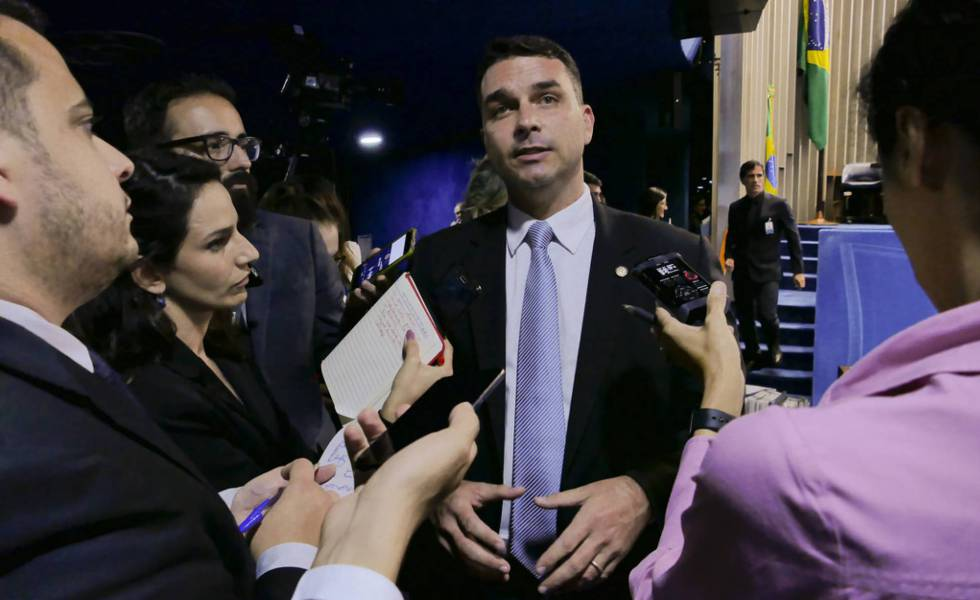 O senador eleito Flávio Bolsonaro