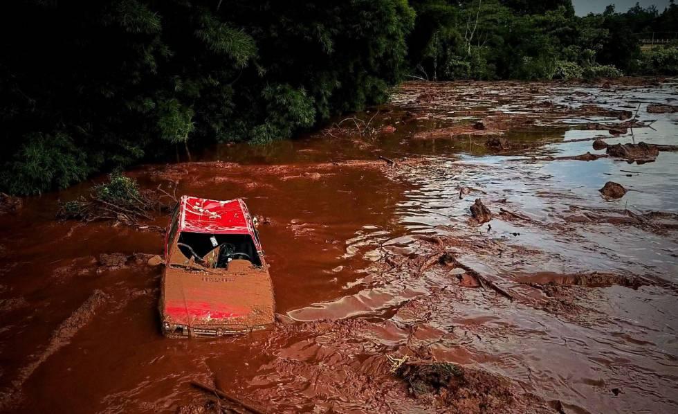 Rompimento da barragem em Brumadinho ao vivo