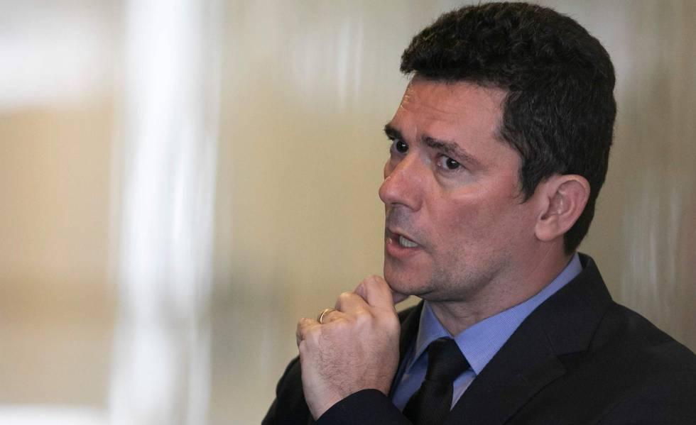 O ministro Sergio Moro, no Palácio do Planalto.