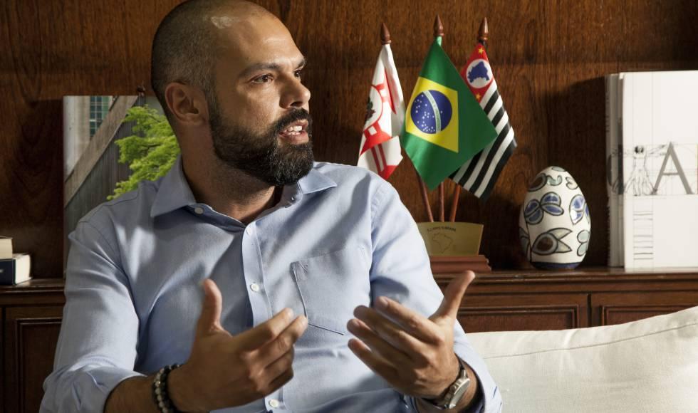 O prefeito de São Paulo Bruno Covas (PSDB), na sede da Prefeitura.