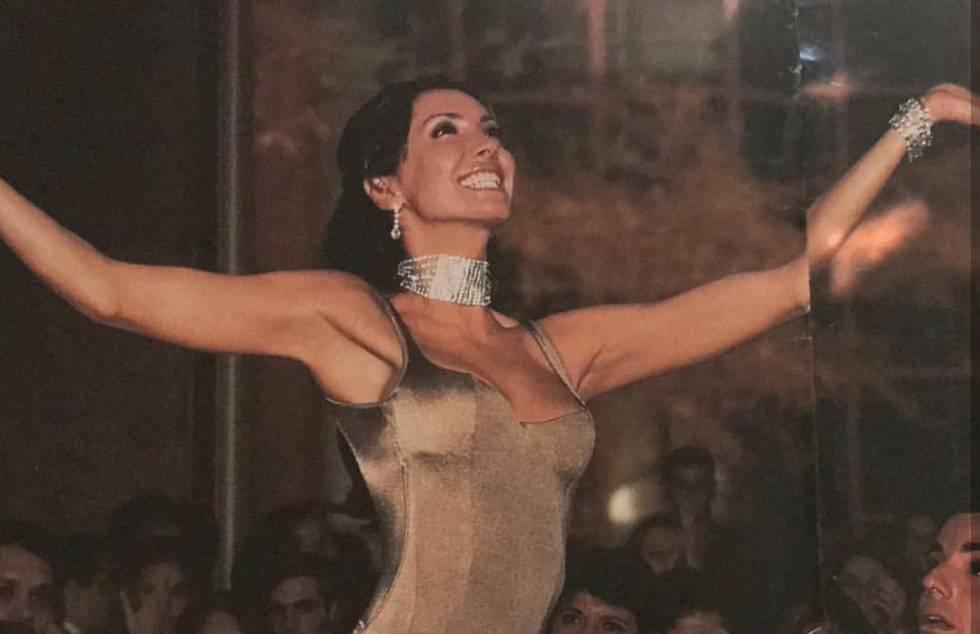 Elaine Caparroz, quando trabalhava como modelo profissional, em uma imagem de arquivo.