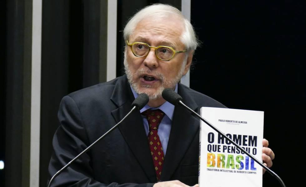 Paulo Roberto de Almeida, no Senado, em abril de 2017.