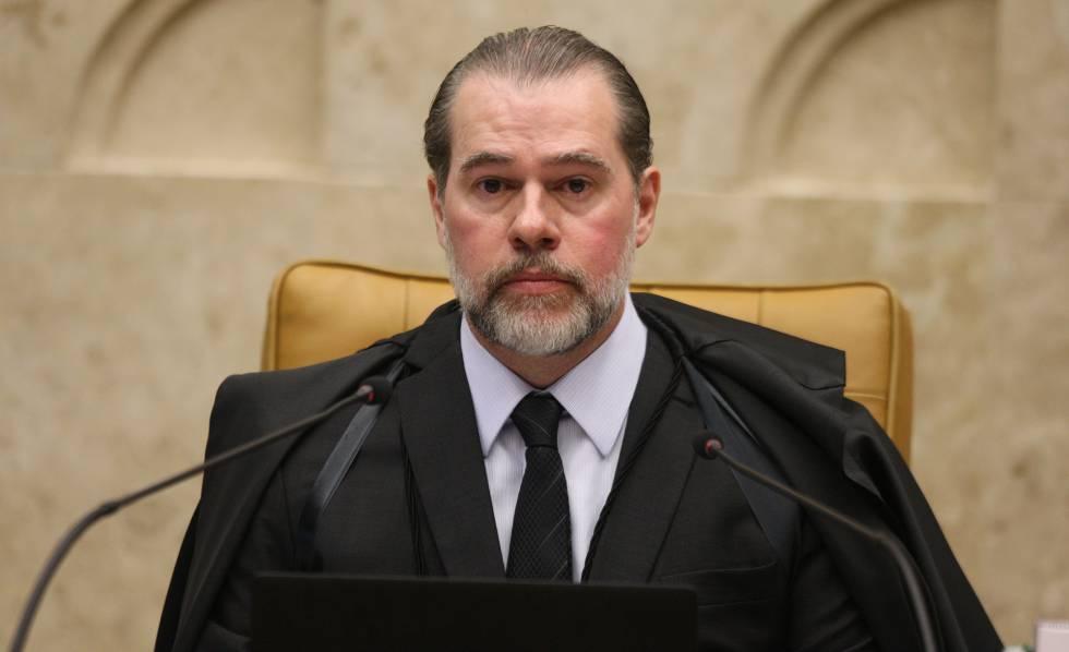 Ministro Dias Toffoli, presidente do Supremo, na sessão desta quinta-feira. rn