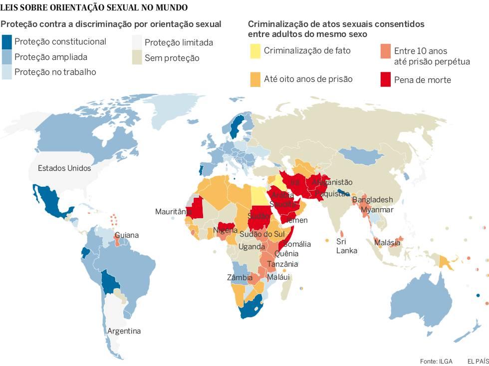 Morrer por ser gay: o mapa-múndi da homofobia