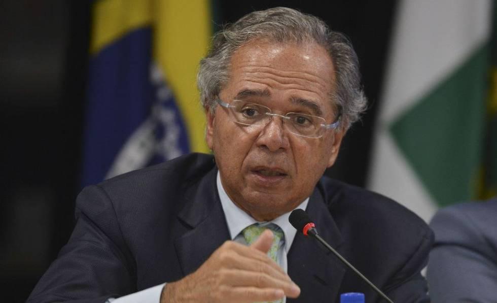 O ministro da Economia, Paulo Guedes, no início da semana em Brasília.