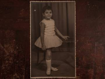 Rosângela na época da escola.