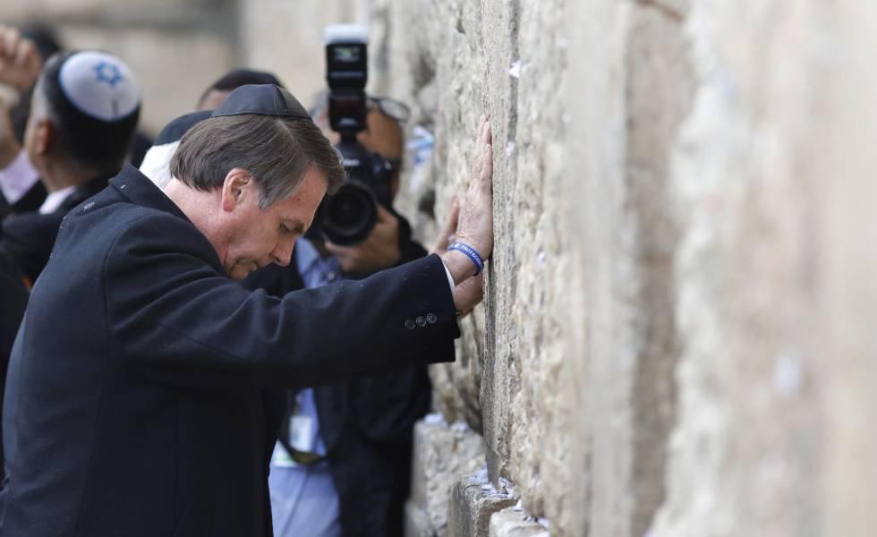 Jair Bolsonaro muro das lamentações