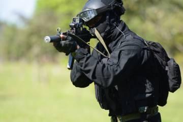 Soldado da força especial do Exército.