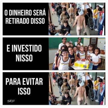 Uma das imagens mais compartilhadas são de de um protesto de 2009 na UnB, em apoio à estudante Geisy Arruda hostilizada por usar roupa curta em uma universidade paulista.