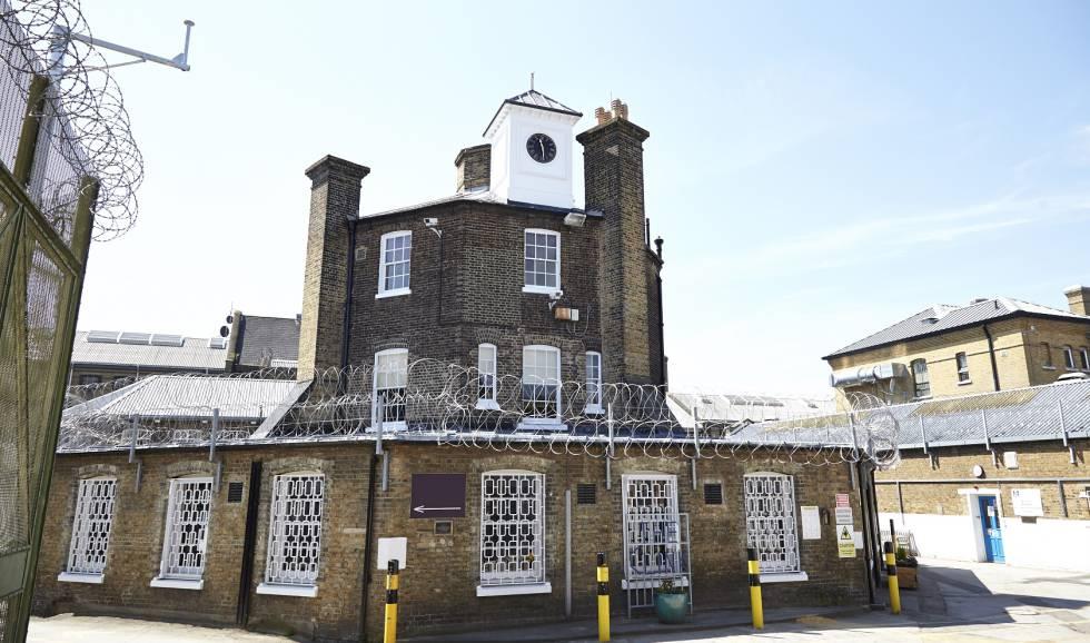Fachada do The Clink, na prisão de Brixton, em Londres.