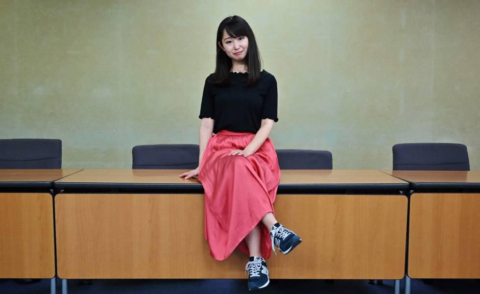 Yumi Ishikawa, fundadora do Movimento KuToo no Japão em 3 de junho, em uma entrevista em Tóquio