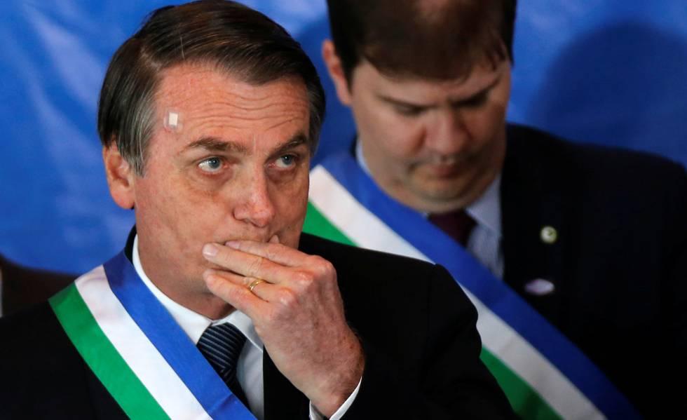 O presidente Bolsonaro durante evento do Ministério da Defesa.
