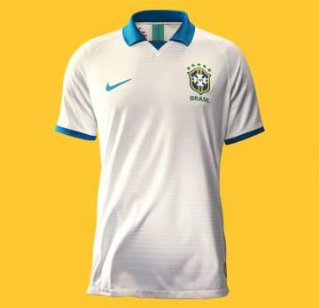 camisa branca selecao brasileira