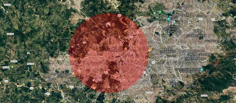 O tamanho da área queimada na Amazônia e no Pantanal, comparada com sua cidade