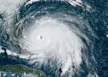 O furacão Dorian, visto do espaço