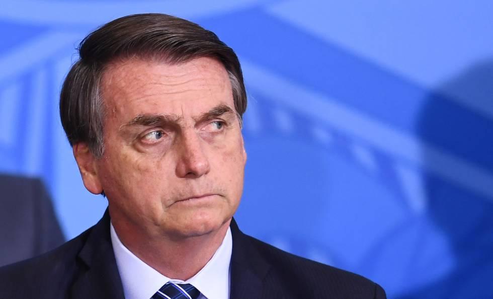 Jair Bolsonaro em ato no Palácio do Planalto no último dia 29.