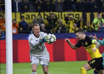 Graças a Ter Stegen, Barcelona estreia na Champions empatando com o Borussia Dortmund