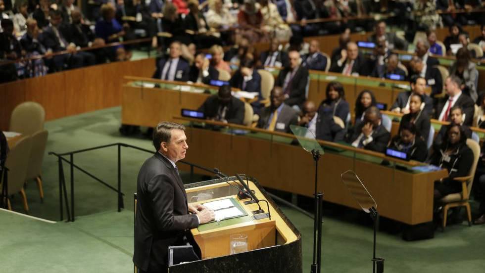O discurso de Jair Bolsonaro na Assembleia Geral da ONU, nesta terça-feira, na íntegra.