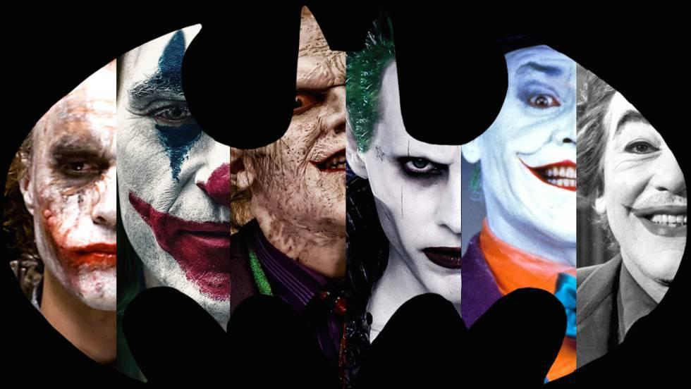 Montagem sobre um fundo do logótipo de Batman com os Joker de carne e osso que assustaram aos espectadores. / Trailer do Coringa.