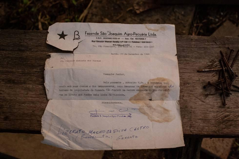 Fazenda São Joaquim mandava comunicados para os quilombolas, reiterando sua propriedade sobre a área onde vivem