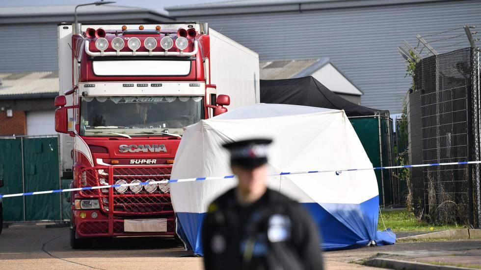 AO VIVO: Caminhão encontrado em Essex.