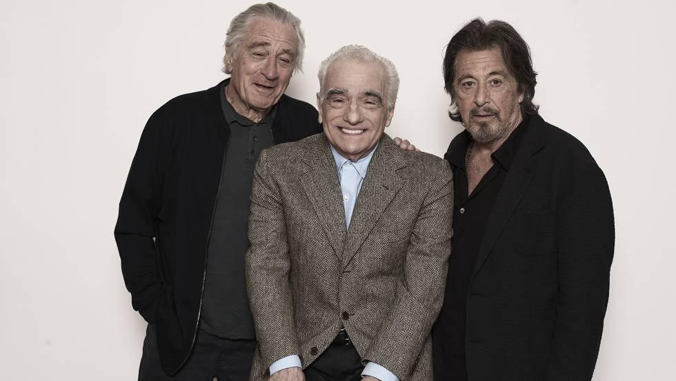 De Niro, Scorsese e Pacino em Nova York, em setembro. No vídeo, trailer de 'O Irlandês'.