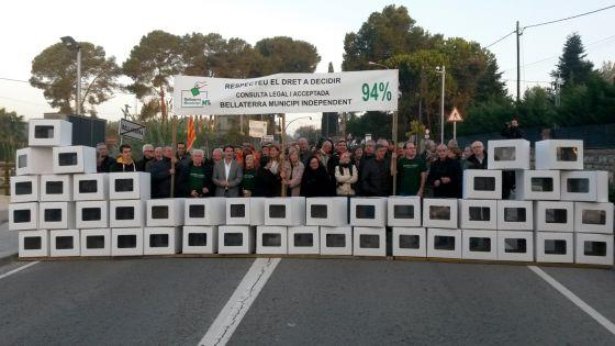 Manifestación en 2015 a favor de la independencia de Bellaterra.