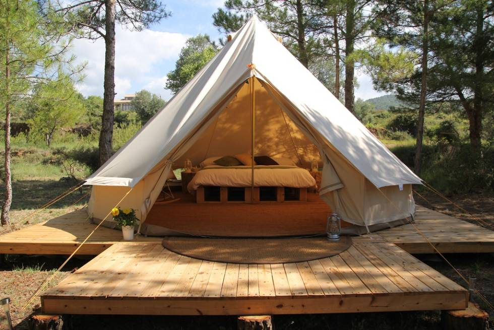 Una tenda de Forest Days.