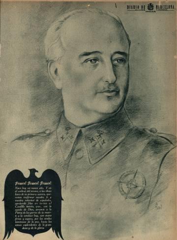 Franco a la portada del 'Diario de Barcelona', el 1943.