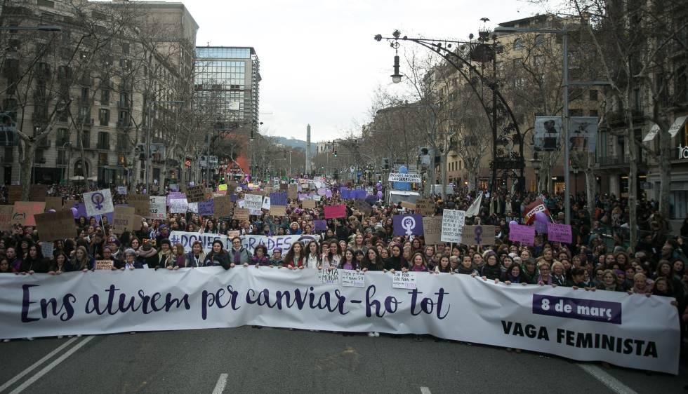 Manifestació el passat 8 de març a Barcelona, en el Dia de la Dona.