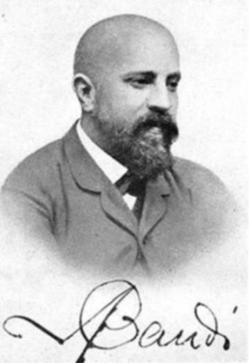 Antoni Gaudí, el 1888, para el pasaporte de la Exposición Universal.