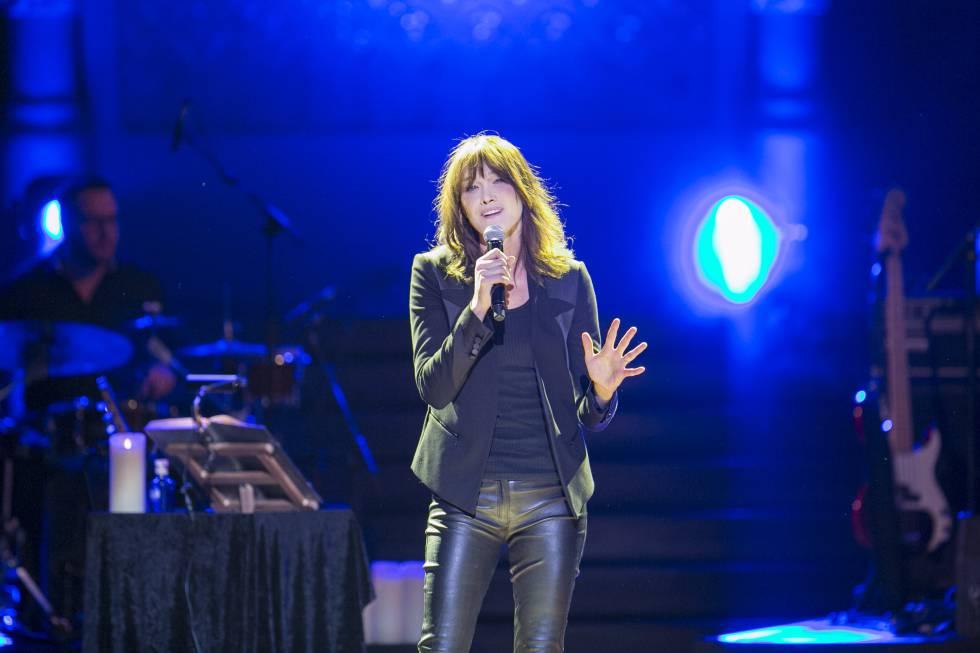 Carla Bruni en un concierto al Palau de la Música el 2018.
