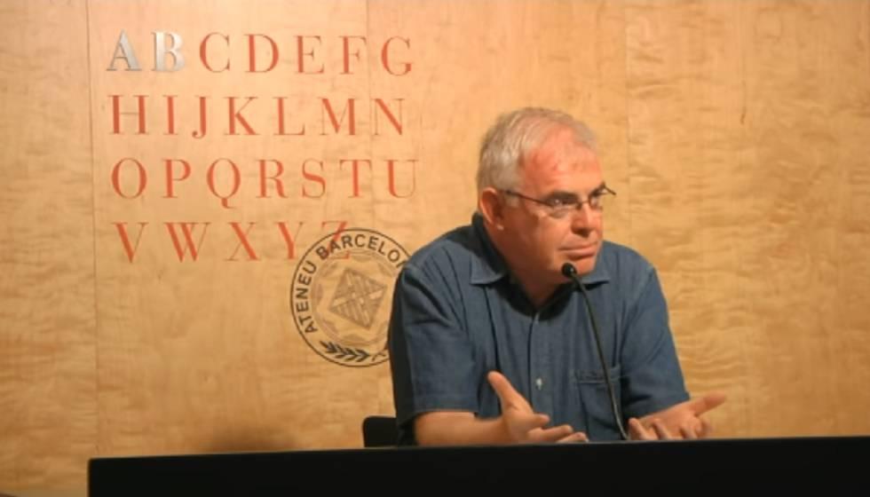 Ramon Alcoberro, en una conferència el 2014.