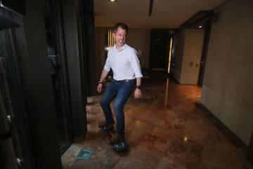 Oriol Juvé, director i únic hoste de l'hotel Urban de Madrid.