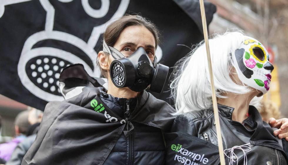 Manifestació contra la contaminació a Barcelona, el passat mes de febrer.