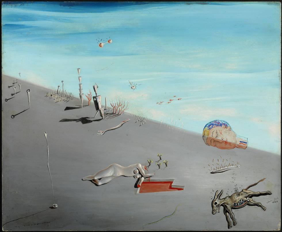 Estudi per a 'La mel és més dolça que la sang', de Salvador Dalí, 1926.