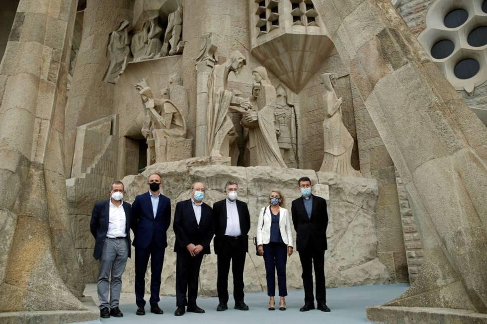 La presentació del nou Centre Internacional d'Estudis Avançats Antoni Gaudí, dimarts a la Sagrada Família.