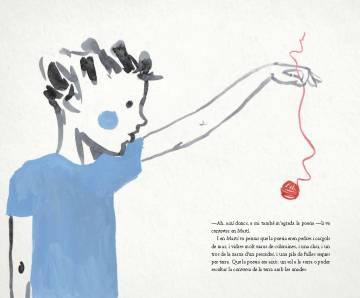 Un dels dibuixos de Rachel Caiano que il·lustren Cor d'ocell.
