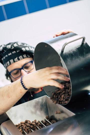 Juan Ángel Rodrigálvarez, de Kankel Cacao, a Albelda de Iregua (La Rioja).