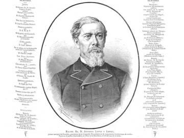 Il·lustració d'Antonio López, marqués de Comillas, a 'La Ilustración española y americana', de la Biblioteca Nacional.