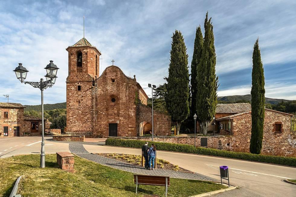 El municipi del Brull amb l'església de Sant Martí del Brull.