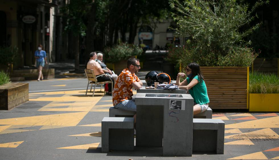 Una superilla al barri de Sant Antoni, a Barcelona.