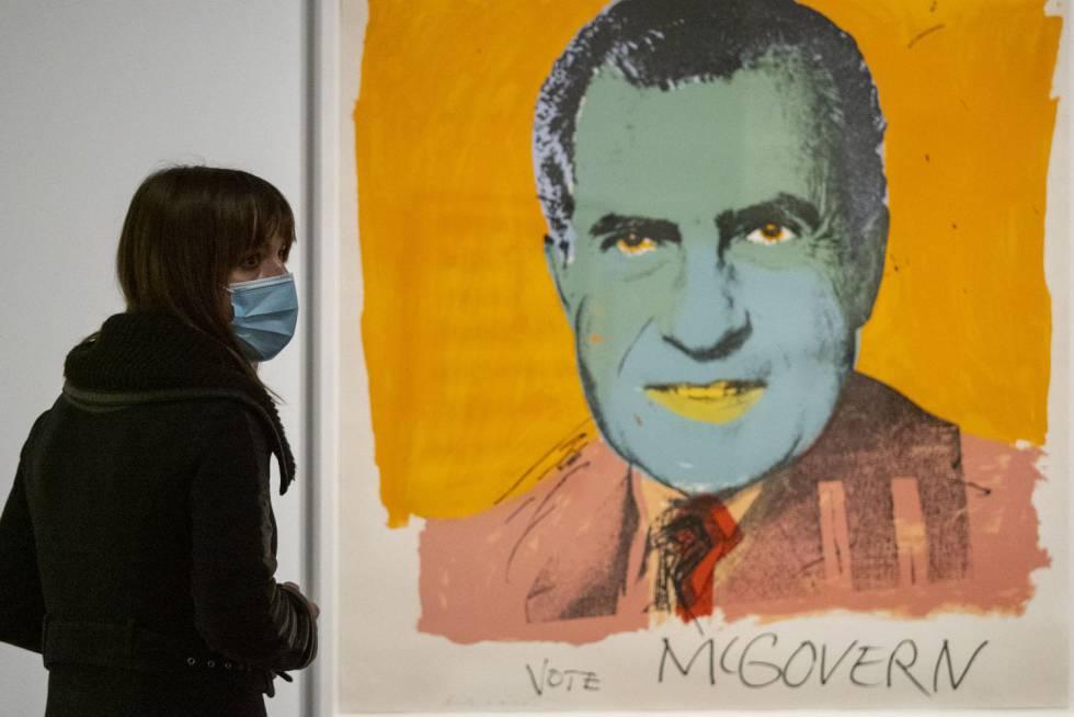 'Vote McGovern', d'Andy Warhol, 1972, una de les obres que es poden veure a l'exposició de CaixaForum.