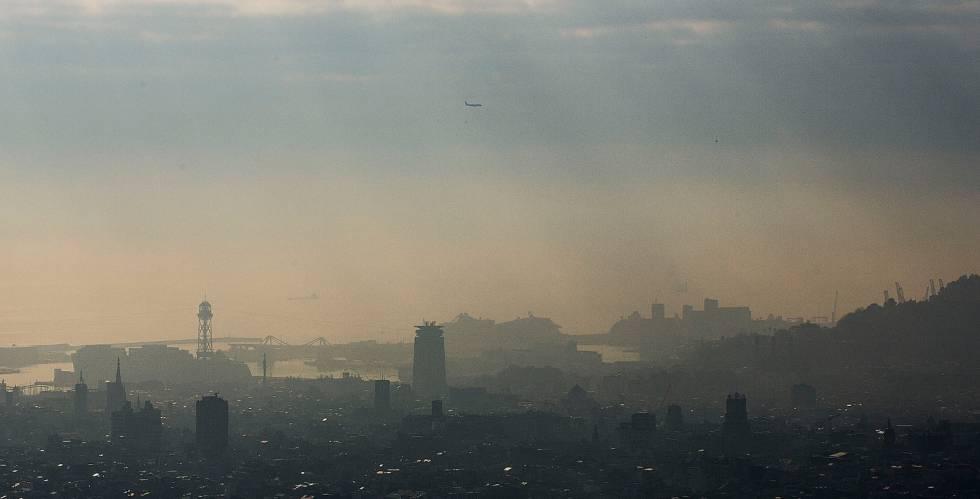 Contaminació a la ciutat de Barcelona.
