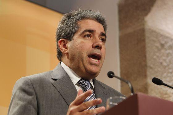 El portavoz del Gobierno catalán y secretario general de la Presidéncia, Francesc Homs. / JOAN SÁNCHEZ
