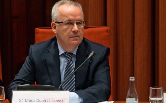 Brauli Duart, presidente de la CCMA, en una sesión de control en el Parlament.