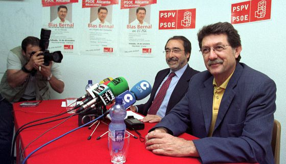 Angel Franco y Blas Bernal en un acto en 2003