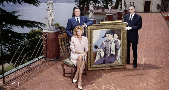 Retrato de los Thyssen que forma parte de la exposición.
