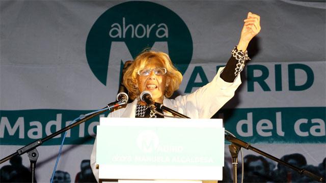 Carmena, a punto de ser alcaldesa de Madrid junto al PSOE